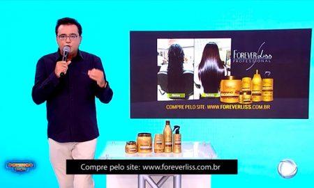 Banho de Verniz da Forever Liss na TV Record