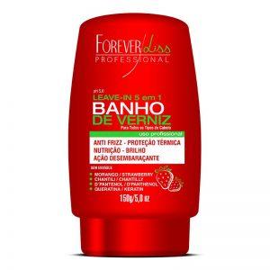Leave In 5 em 1 Banho de Verniz Morango 150g