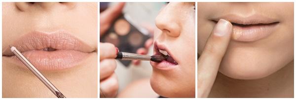 Erros comuns na maquiagem não aplicar base na boca primer